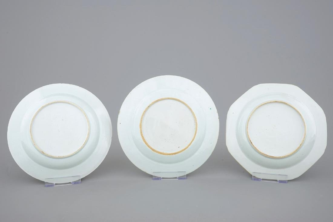 A collection of five Chinese famille rose plates, 18th - 3