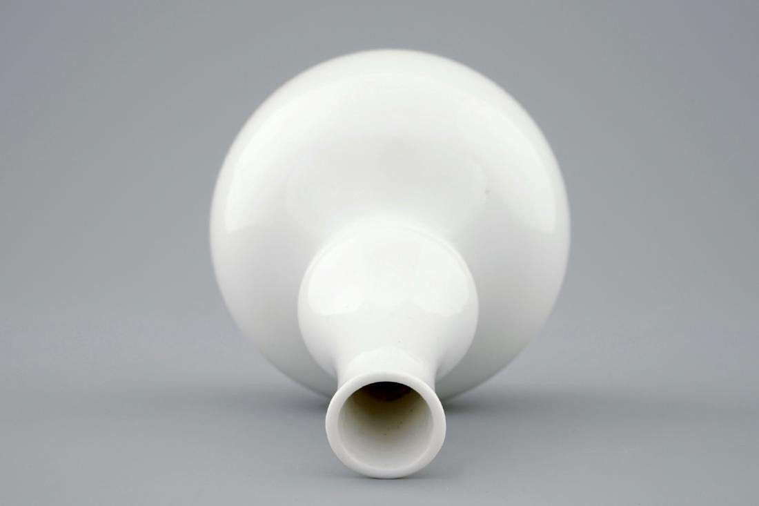 A Chinese blanc de Chine double gourd vase, - 5
