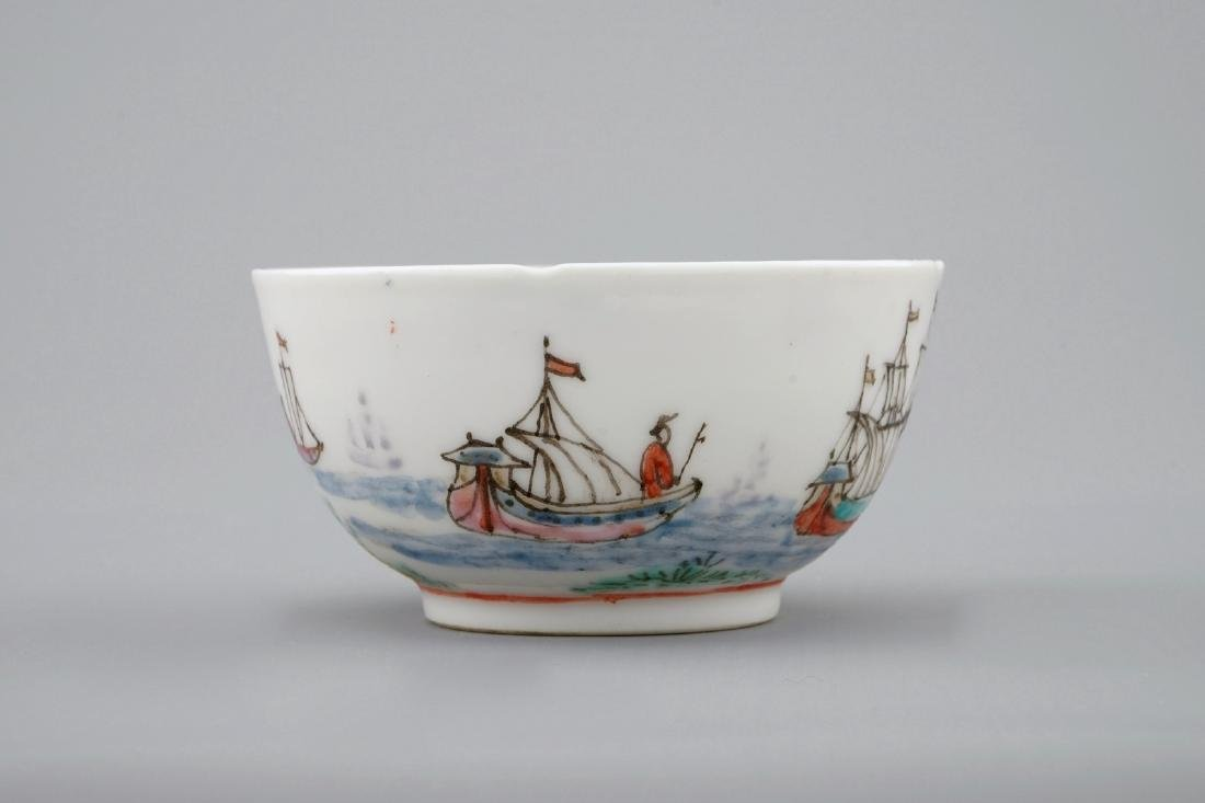 A Dutch-decorated Chinese cup and saucer with a scene - 6