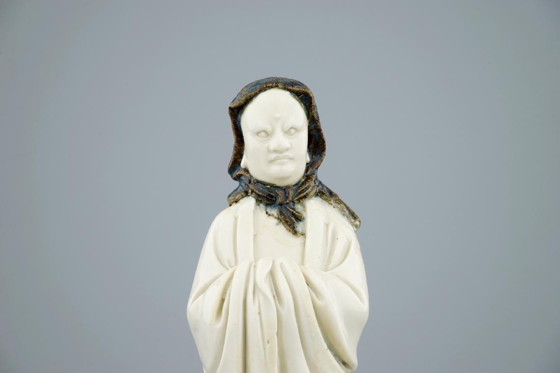 An unusual Chinese Dehua blanc de Chine figure of a