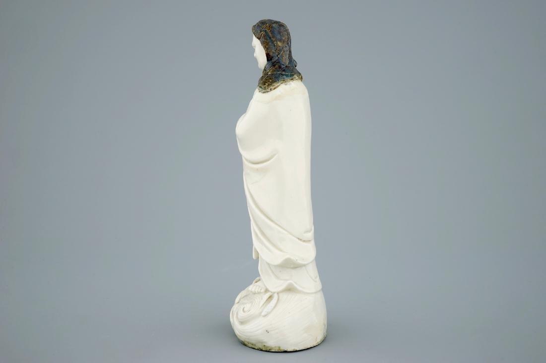 An unusual Chinese Dehua blanc de Chine figure of a - 4