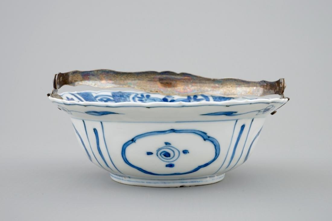 A Chinese blue and white silver-handled Kraak porcelain - 3