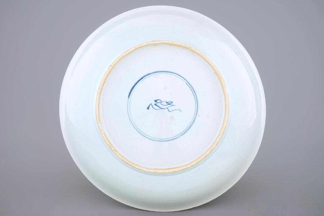 A large Chinese famille verte dish: Romance of the - 2