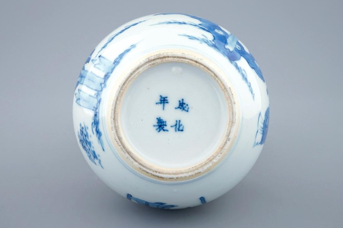 A Chinese blue and white double gourd vase, Kangxi - 3