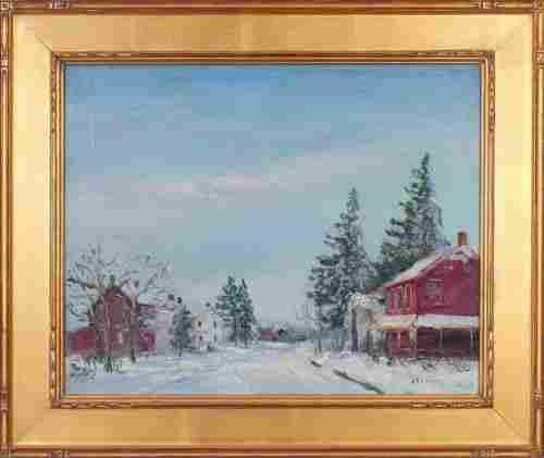 WALTER EMERSON BAUM (American 1884-1956) Oil on