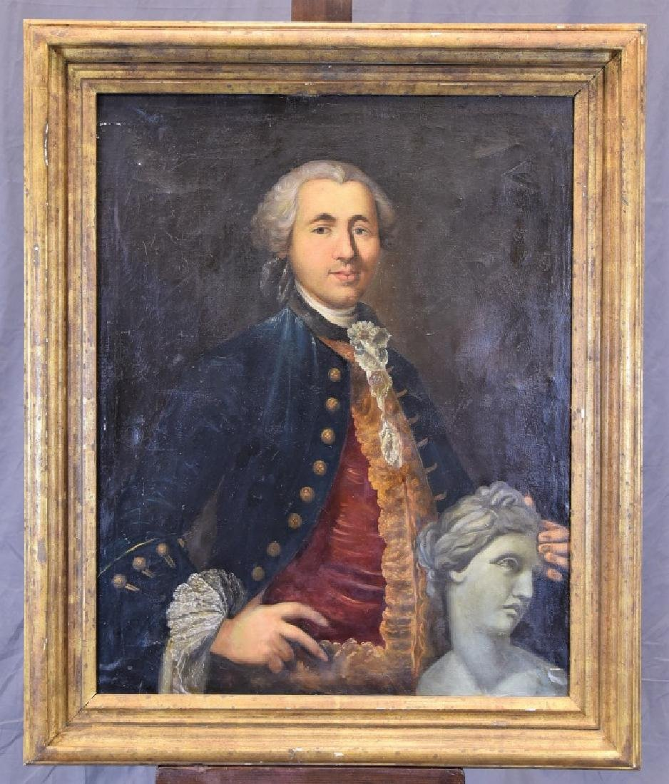 OIL PAINTING, EUROPEAN PORTRAIT OF GENTLEMAN