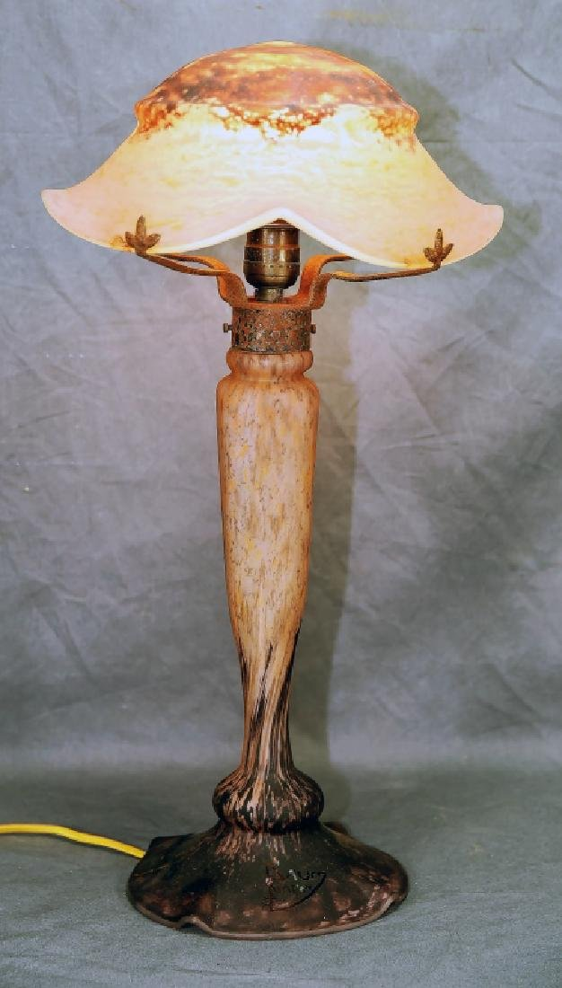 Daum Nancy Art Glass Table Lamp Circa 1920