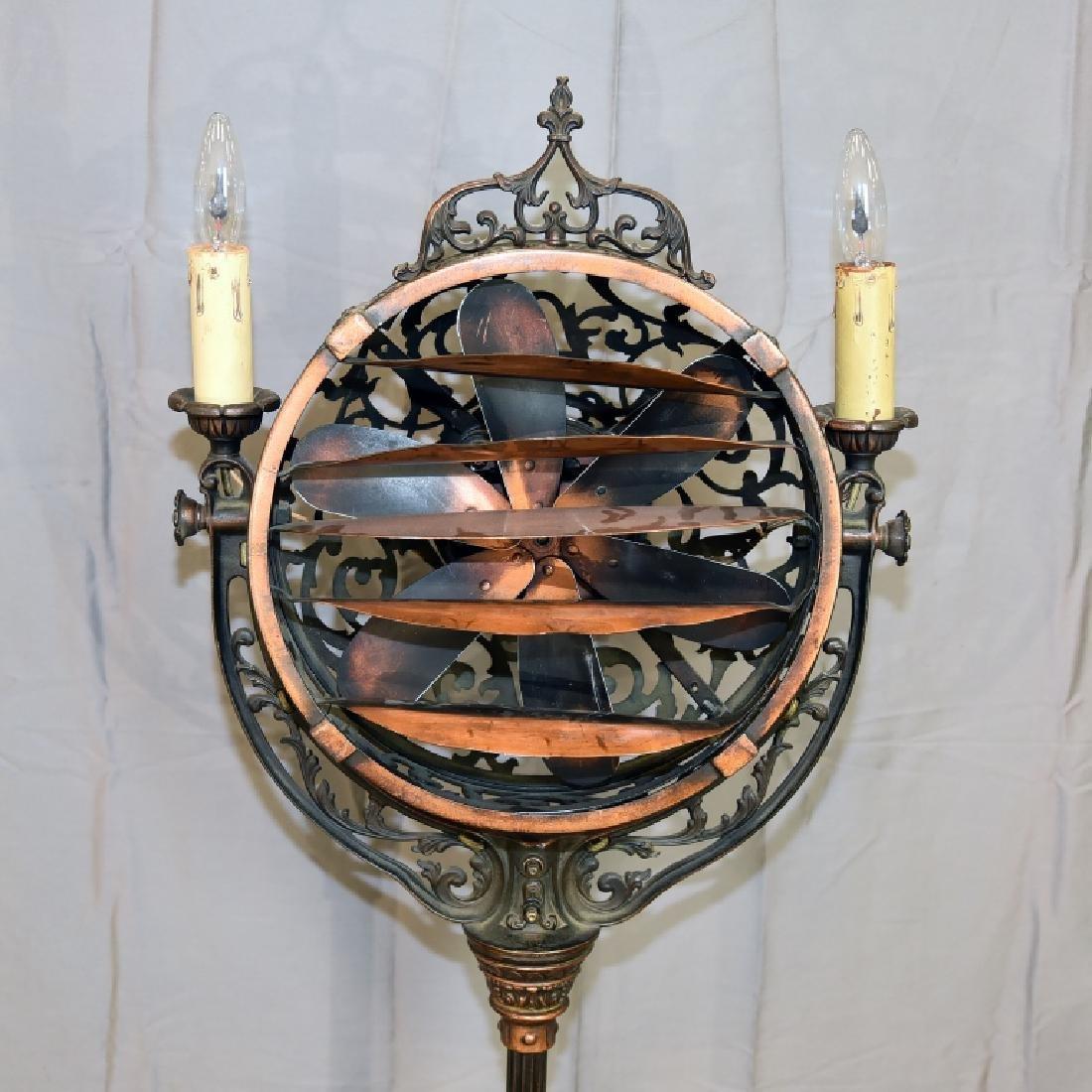 Circa 1920 Luminaire Parlor Floor Fan - 2
