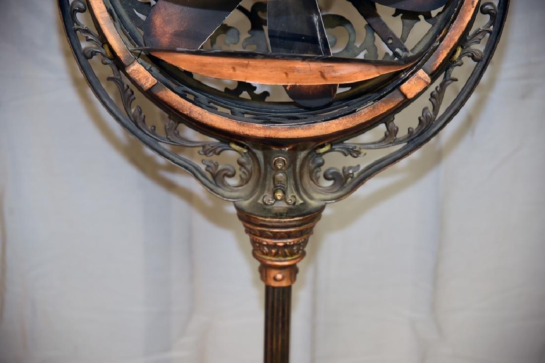 Circa 1920 Luminaire Parlor Floor Fan - 4