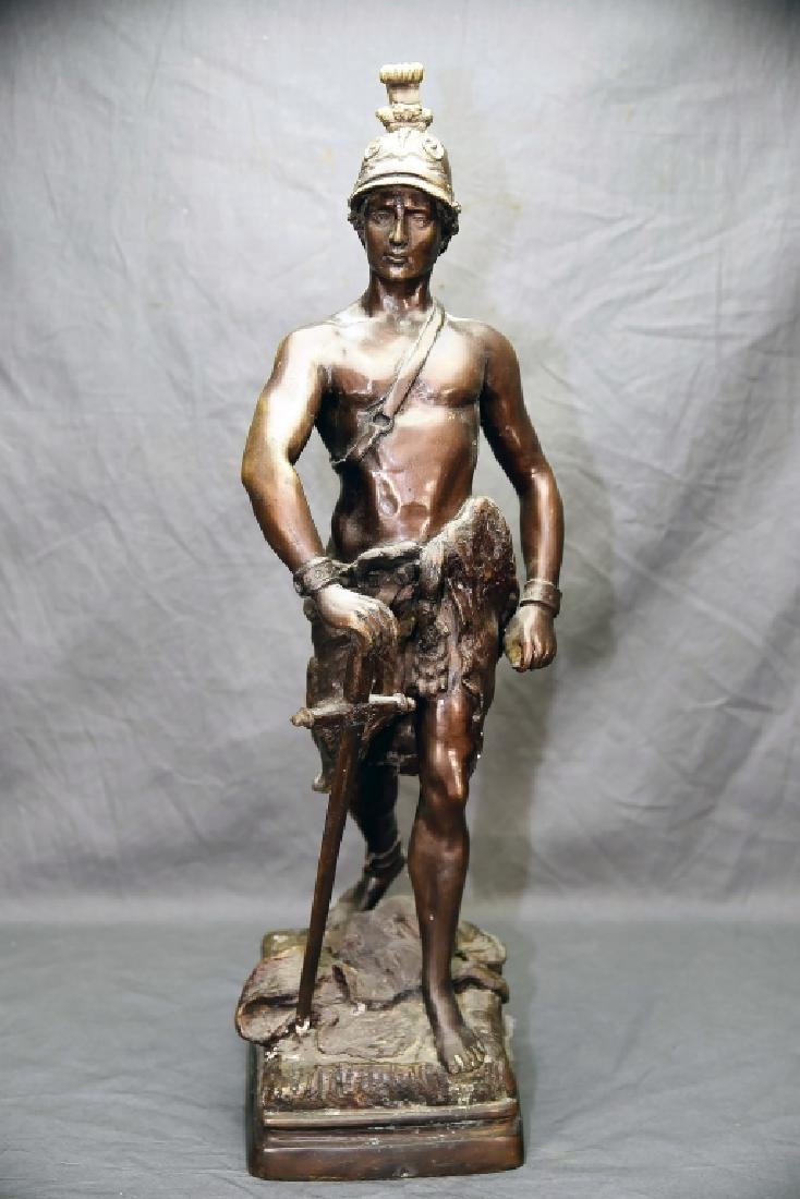 Roman Soldier with Sword Bronze Statue - 2