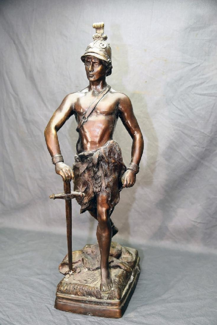 Roman Soldier with Sword Bronze Statue - 3