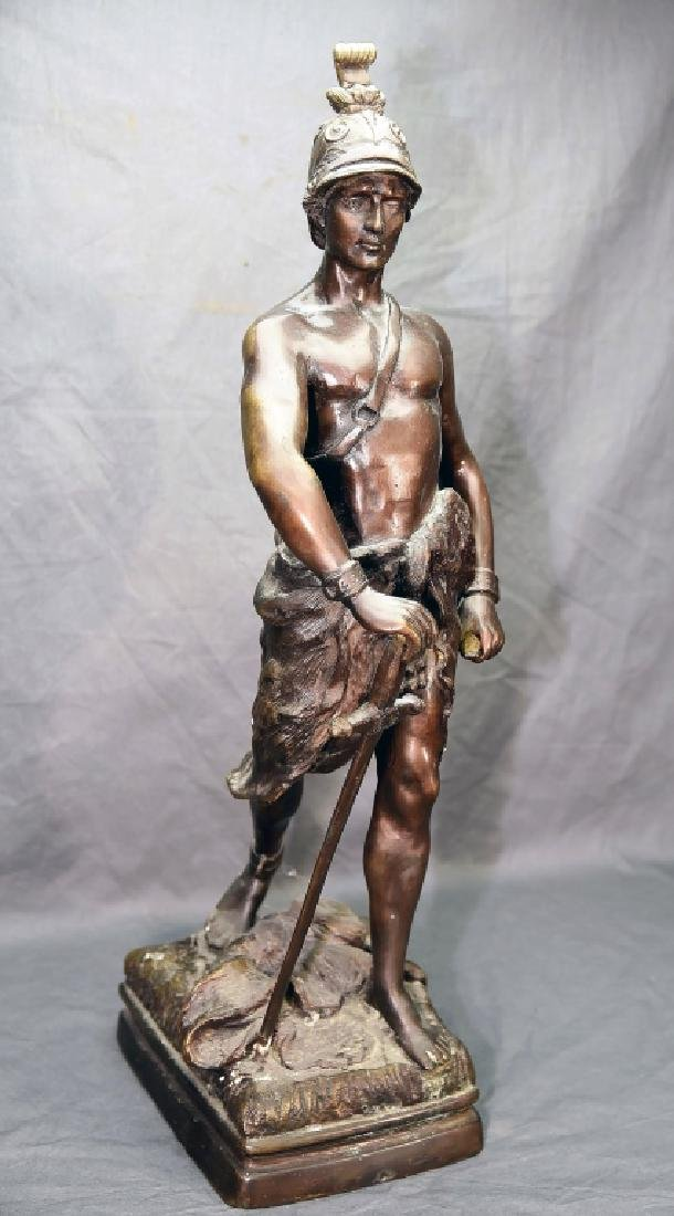 Roman Soldier with Sword Bronze Statue - 4