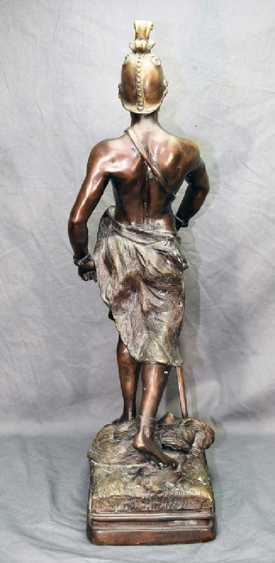 Roman Soldier with Sword Bronze Statue - 6