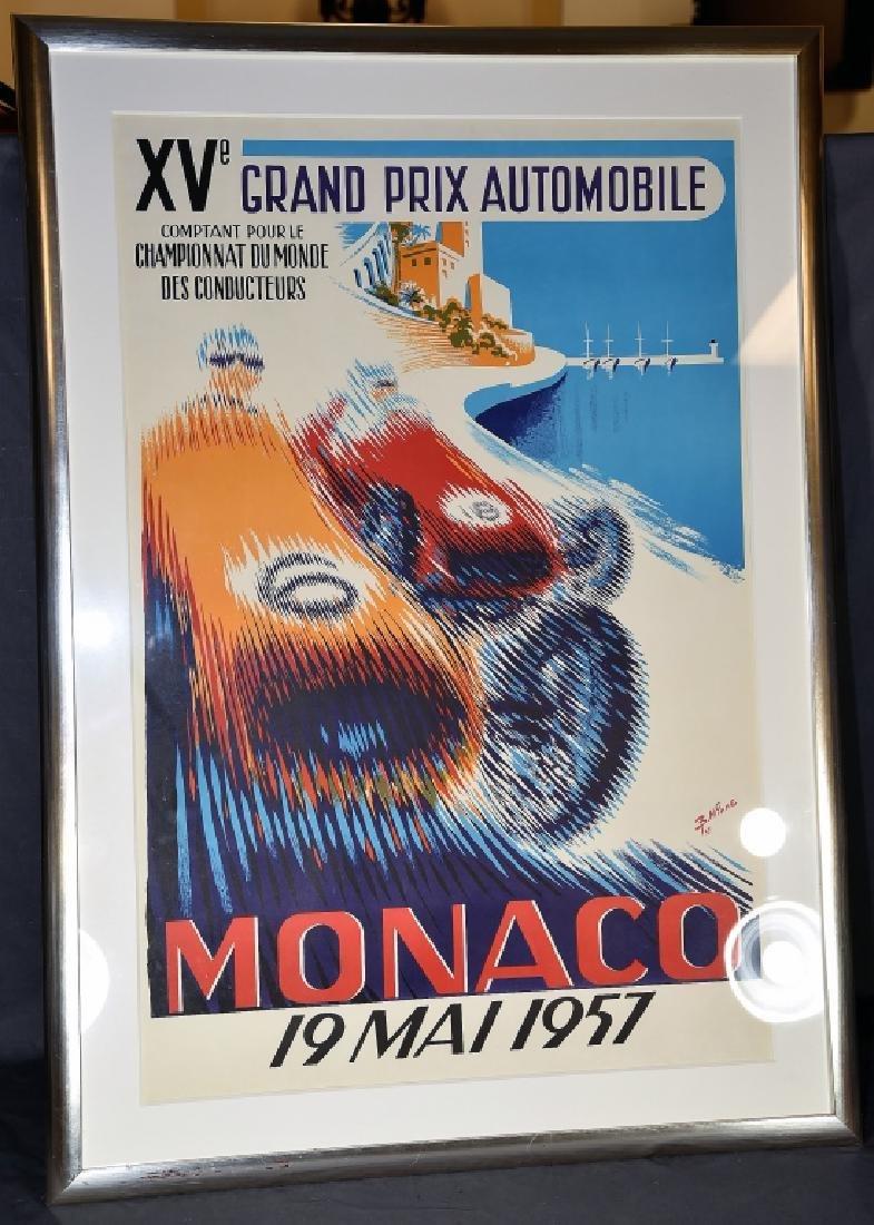 1957 Monaco Grand Prix Formula 1 Race Screenprint