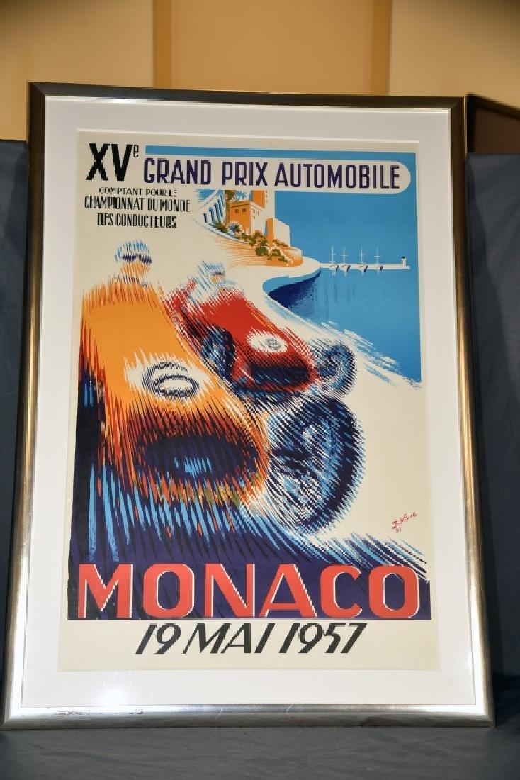 1957 Monaco Grand Prix Formula 1 Race Screenprint - 2
