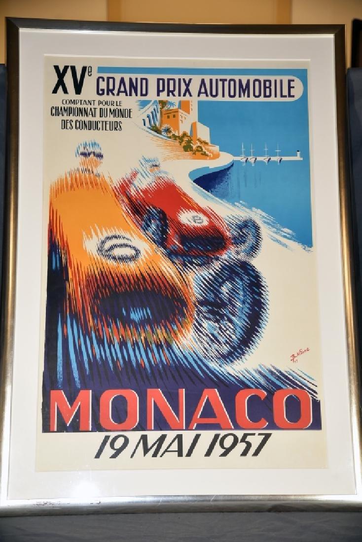 1957 Monaco Grand Prix Formula 1 Race Screenprint - 3