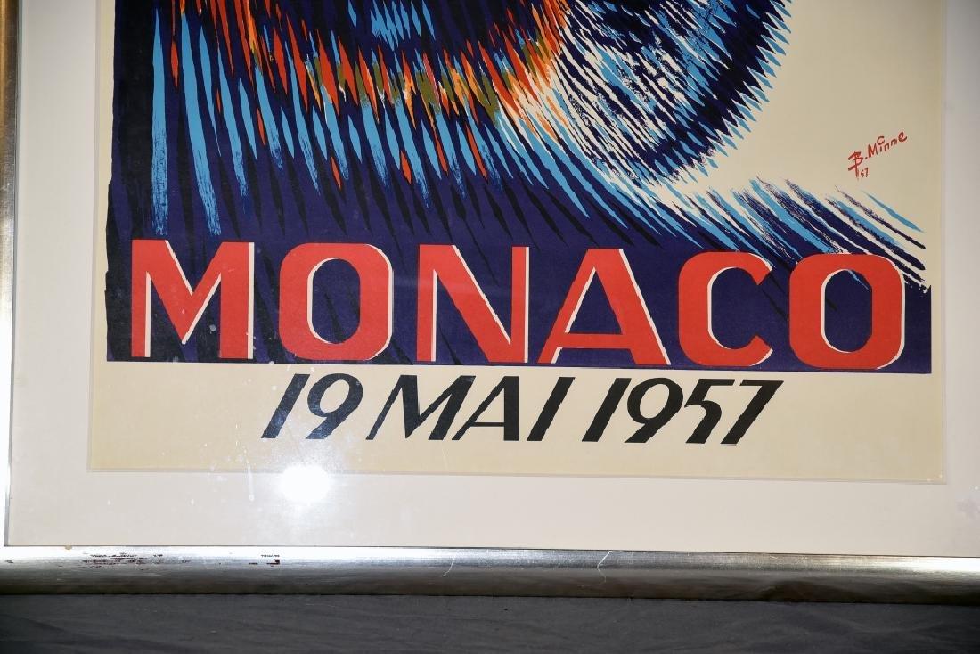 1957 Monaco Grand Prix Formula 1 Race Screenprint - 4
