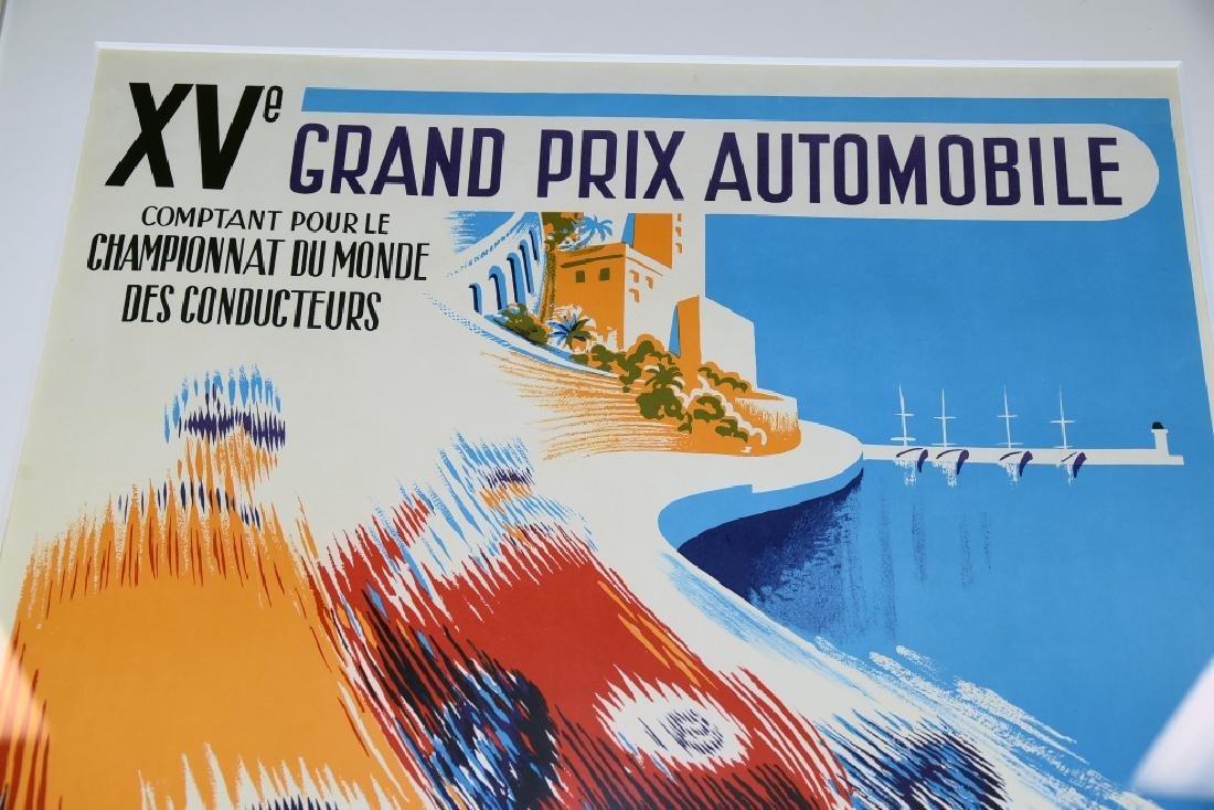 1957 Monaco Grand Prix Formula 1 Race Screenprint - 6