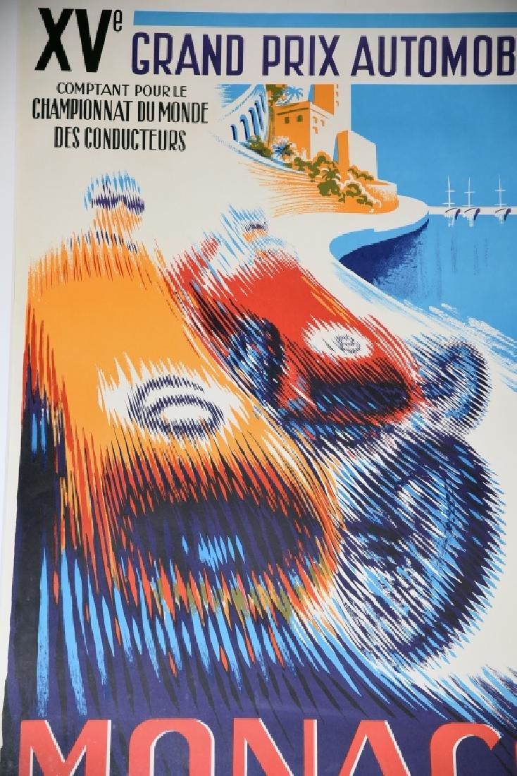 1957 Monaco Grand Prix Formula 1 Race Screenprint - 8
