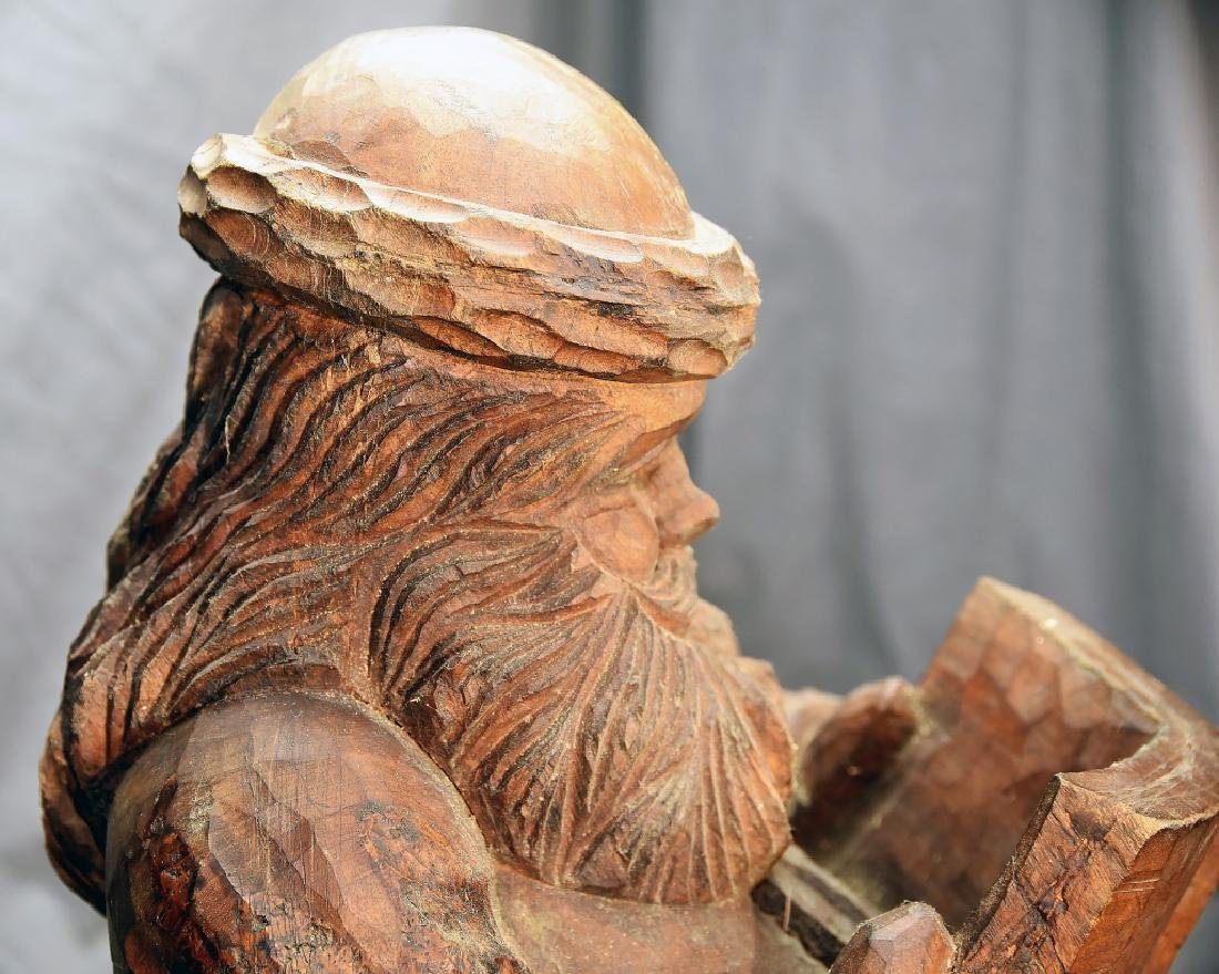 Hand Carved Large Seated Santa Paper Mache' Mold - 5