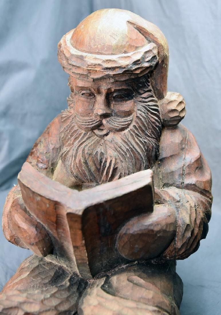Hand Carved Large Seated Santa Paper Mache' Mold - 6