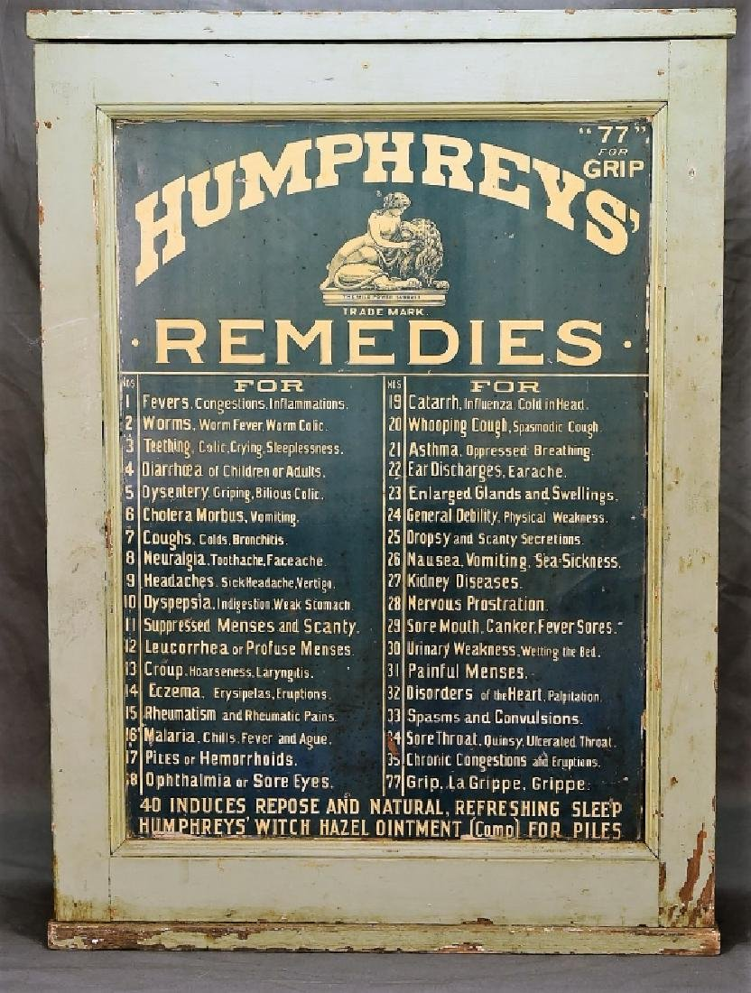 Humphreys' Remedies Cabinet with New Old Stock