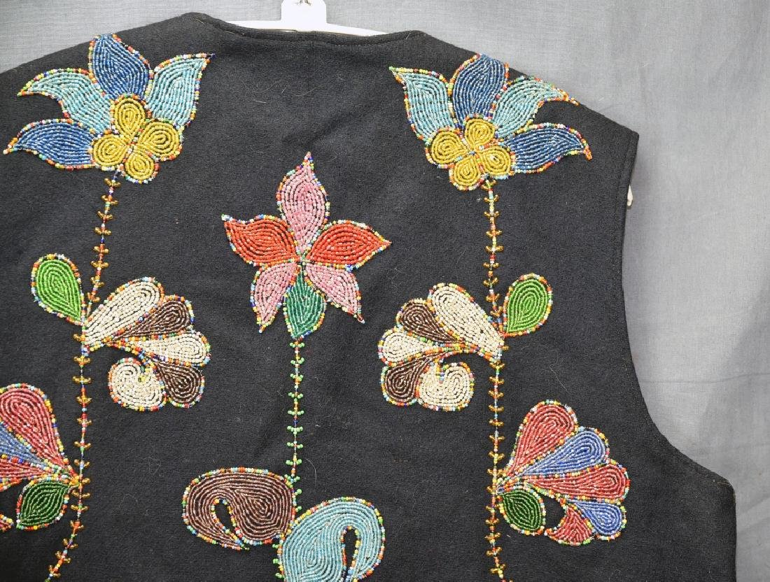 Native American Beaded Vest - 10