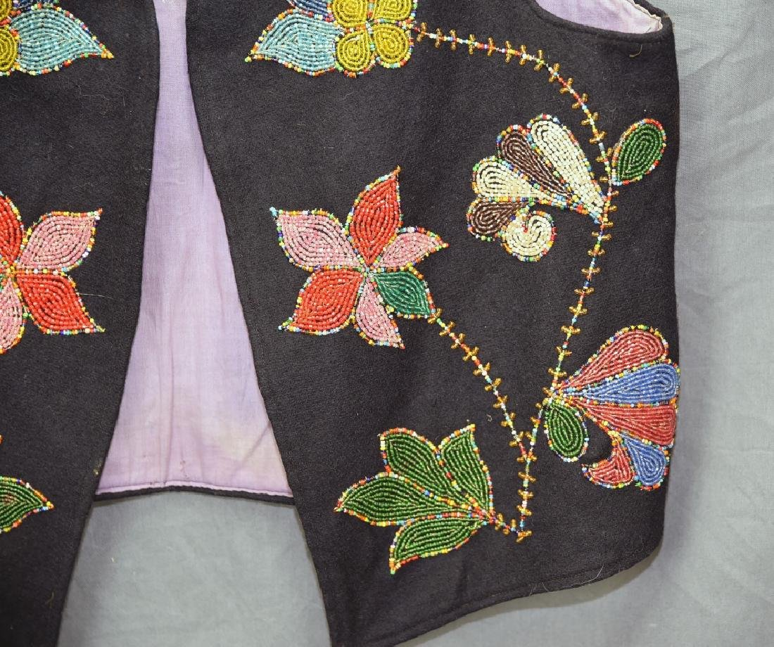 Native American Beaded Vest - 2