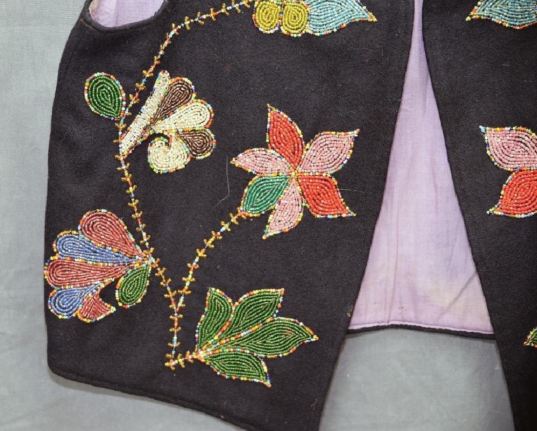 Native American Beaded Vest - 3