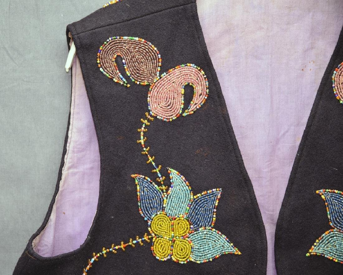 Native American Beaded Vest - 4