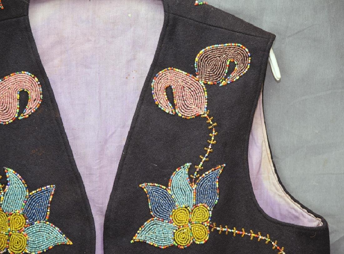 Native American Beaded Vest - 5