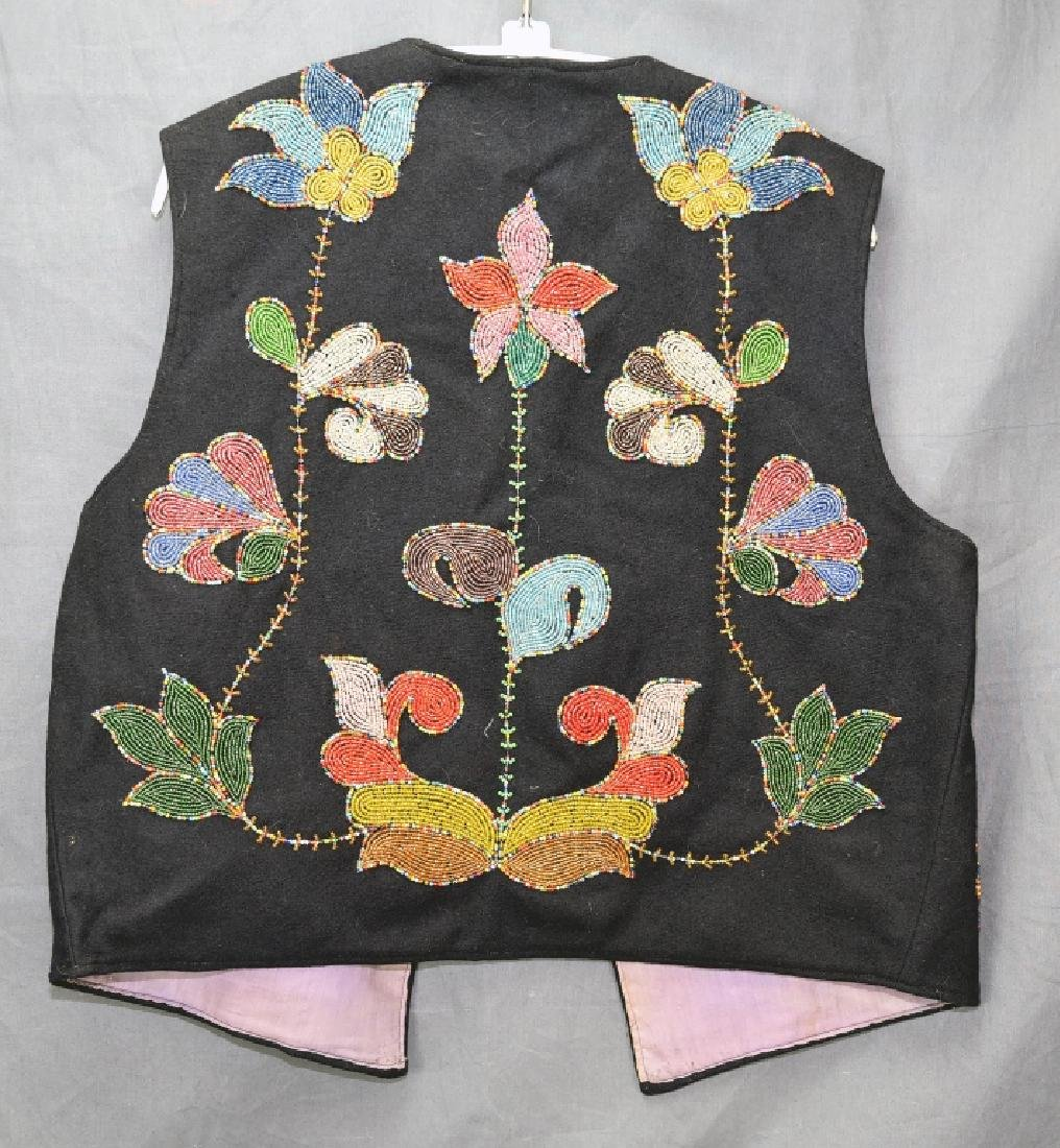 Native American Beaded Vest - 6