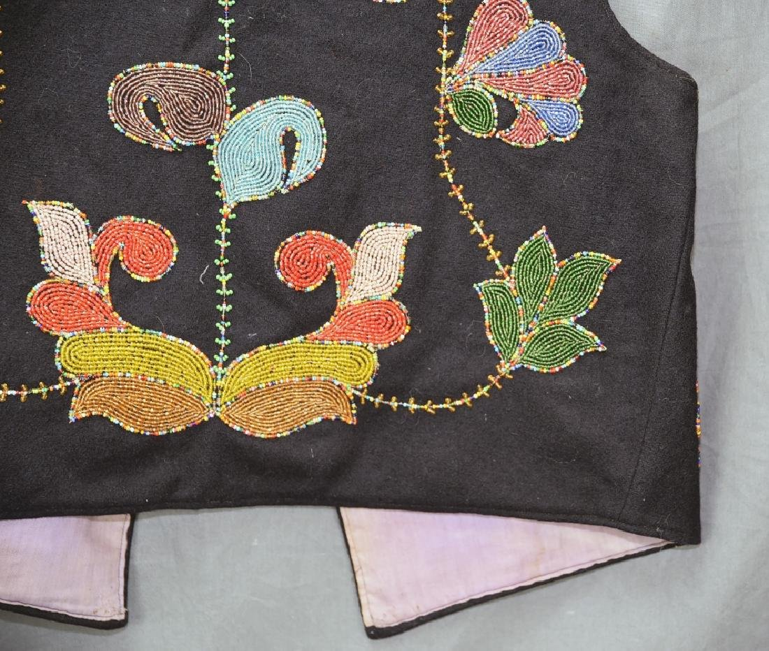 Native American Beaded Vest - 7