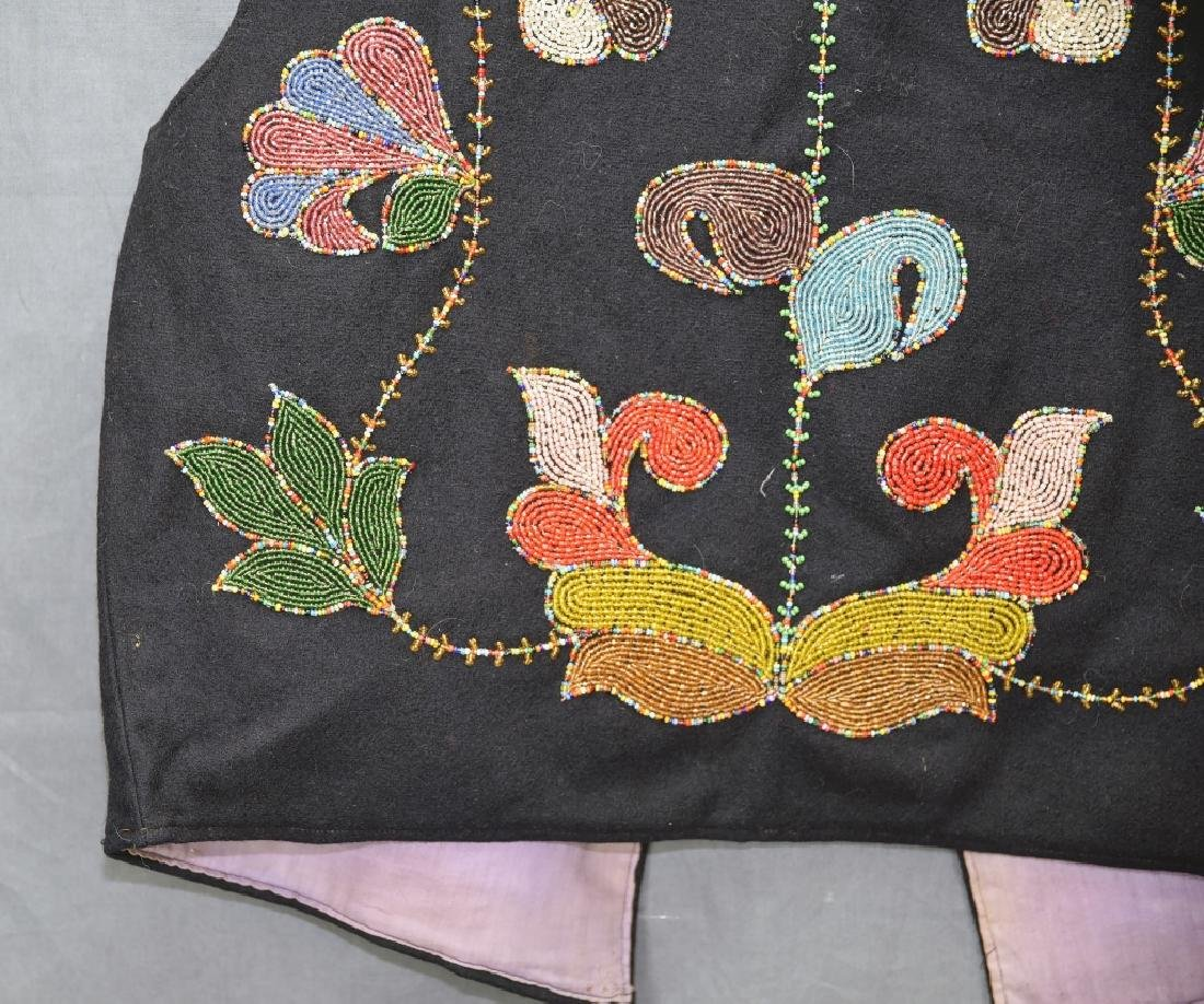 Native American Beaded Vest - 8