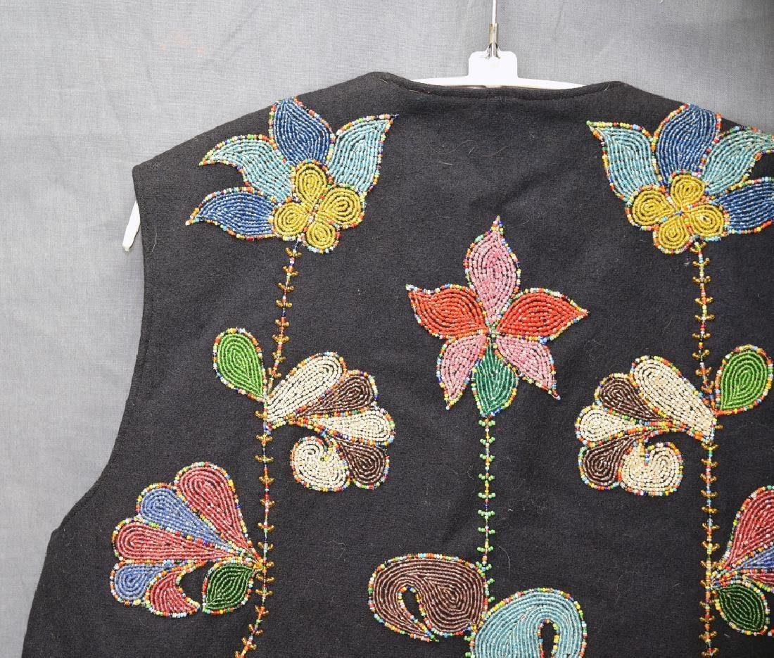 Native American Beaded Vest - 9
