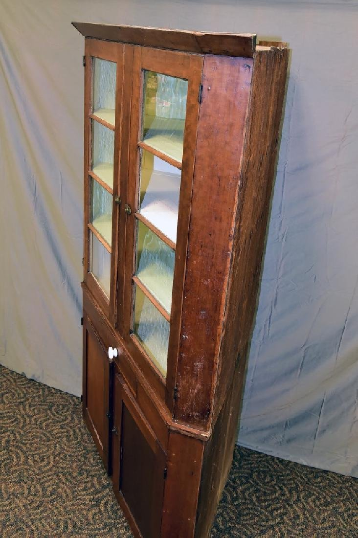 Tall Cherry Corner Cupboard - 3
