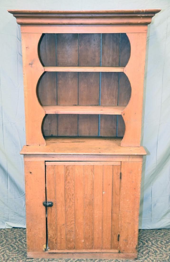 Stepback 1 Door Pine  Cupboard