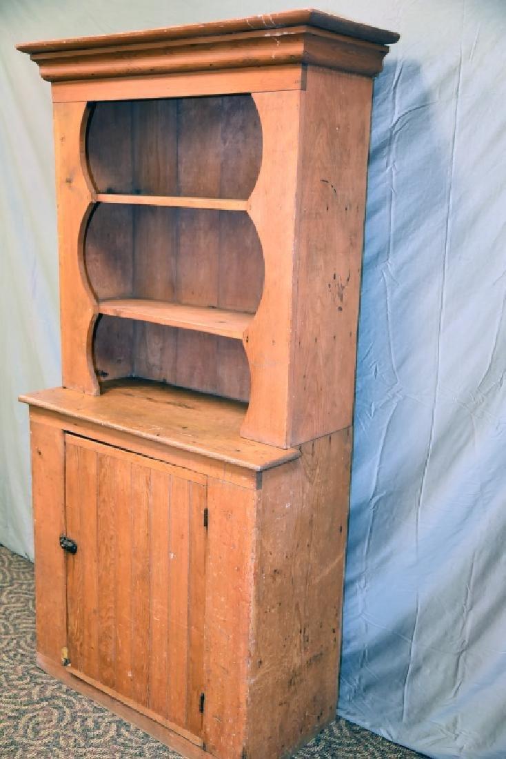 Stepback 1 Door Pine  Cupboard - 4