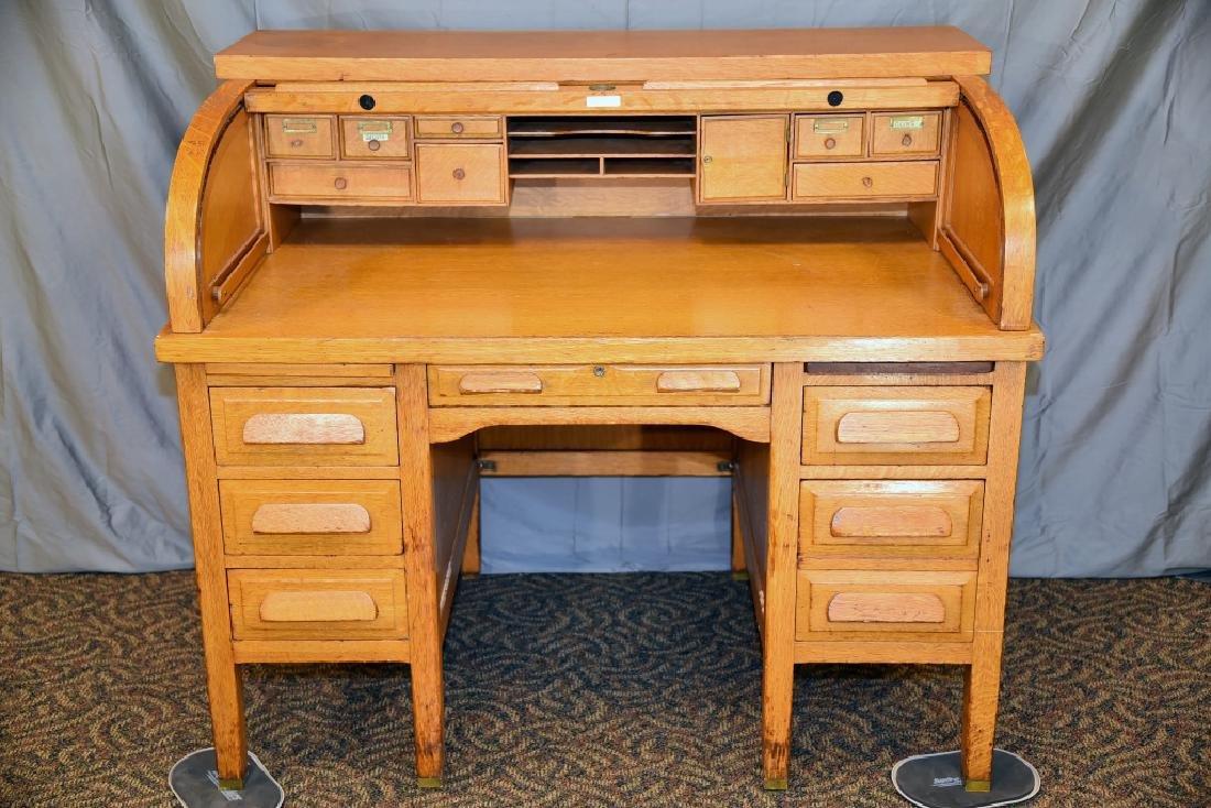 Standard Oak Rolltop Desk