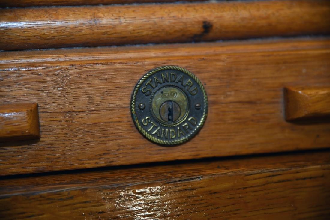 Standard Oak Rolltop Desk - 5