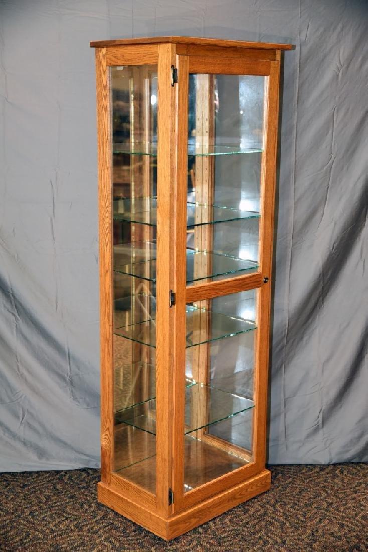 Lighted Oak Display Cabinet - 2