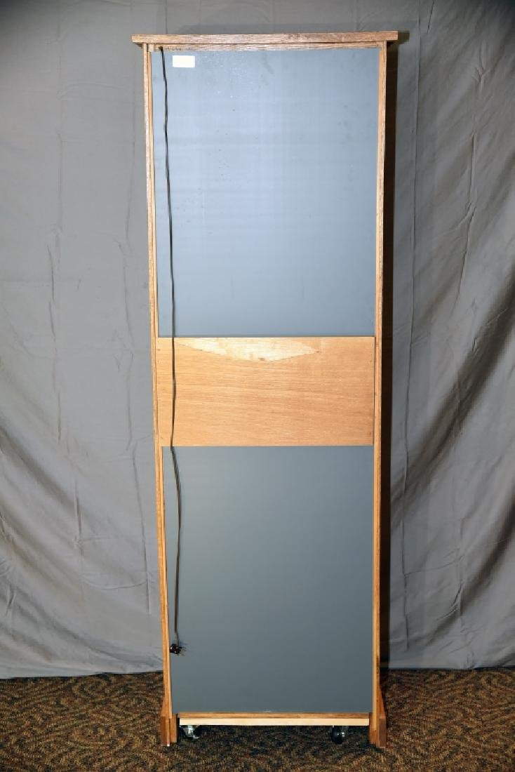 Lighted Oak Display Cabinet - 4