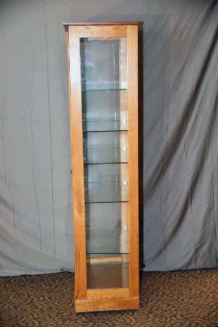 Lighted Oak Display Cabinet - 5