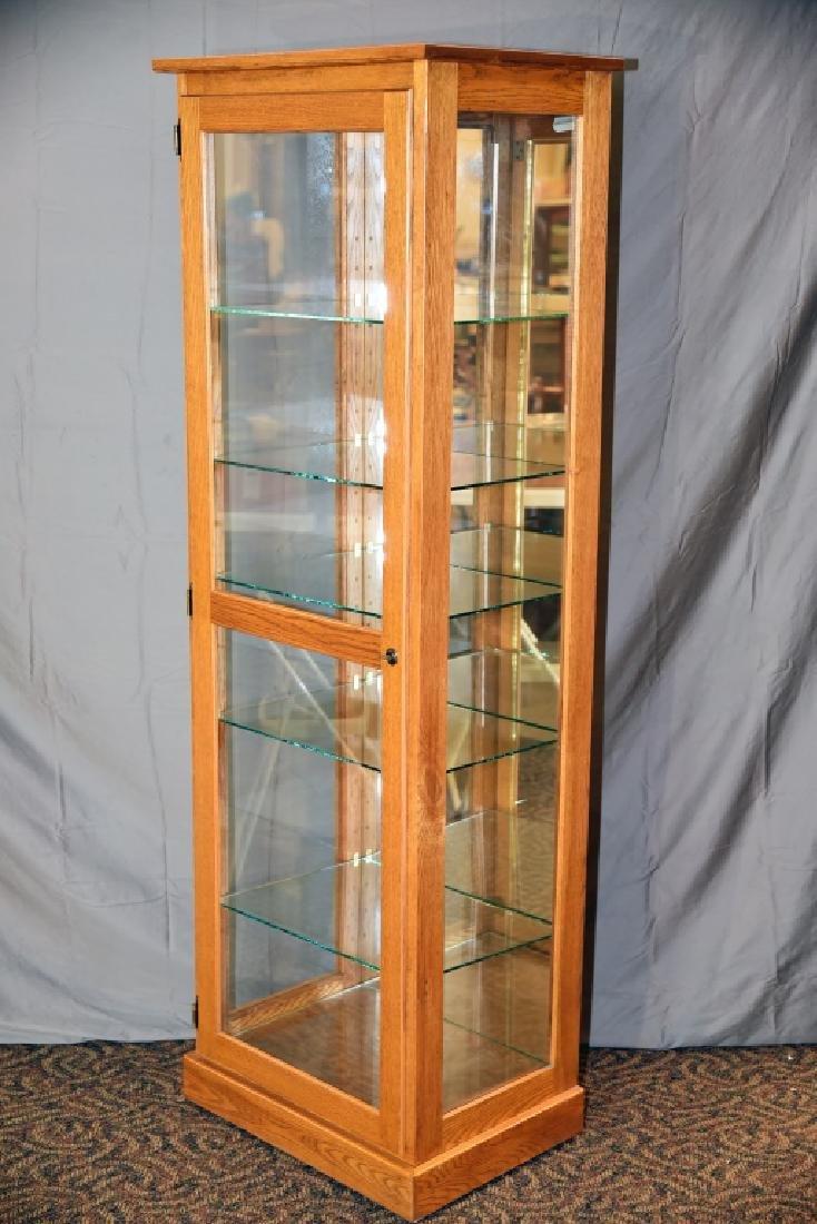 Lighted Oak Display Cabinet - 6