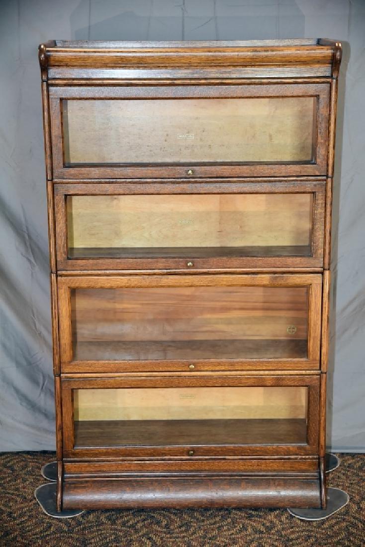 Oak 4 Section Widman Barrister Bookcase