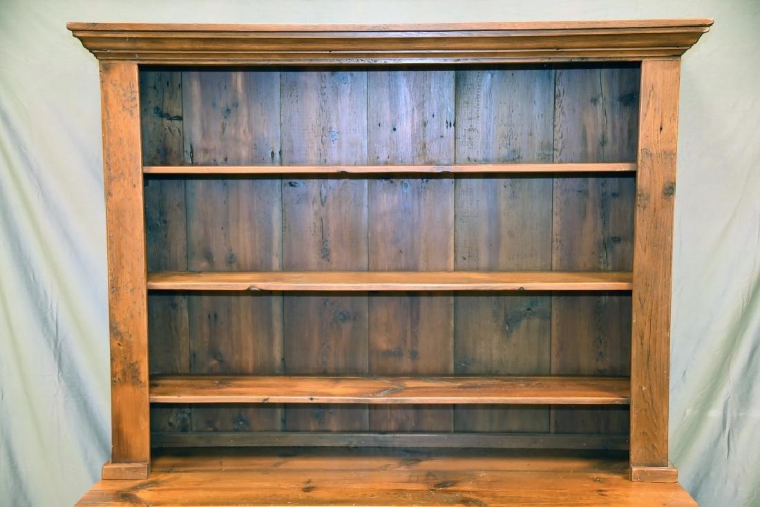 Large Primitive Pine Stepback Cupboard - 5