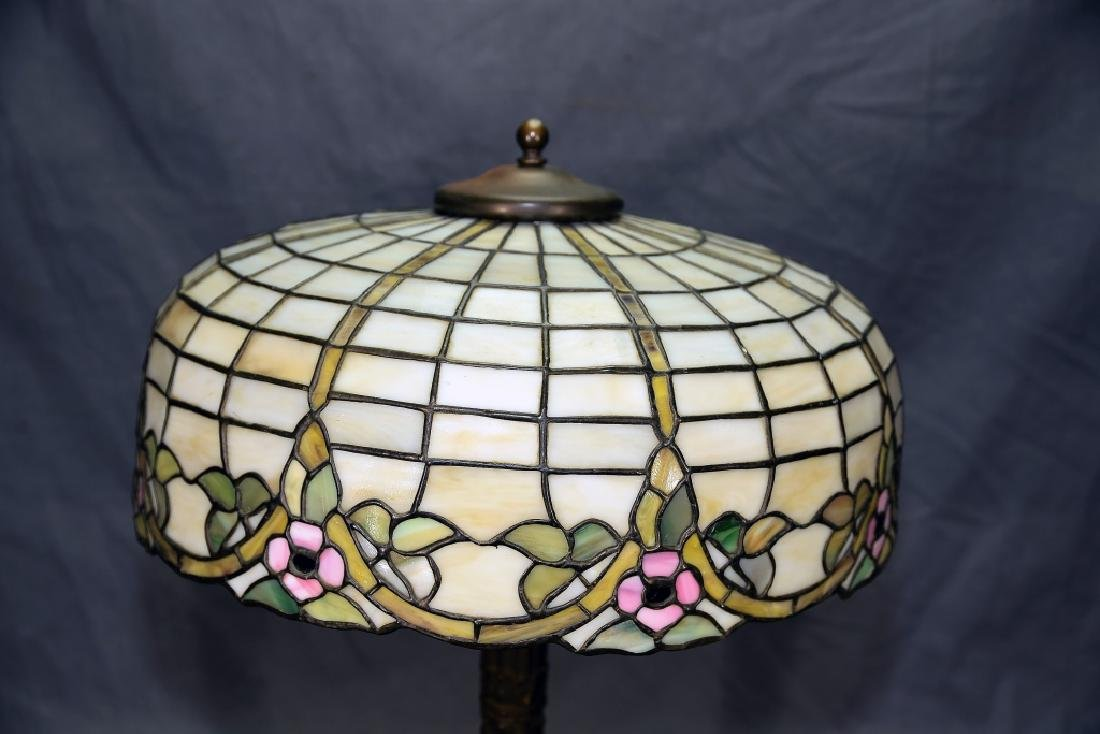 Circa 1920s Leaded Glass Table Lamp - 2
