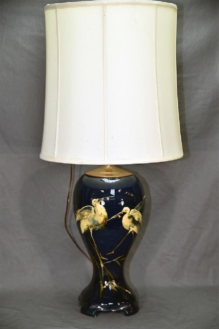 Weller Dickens Ware Egret Table Lamp