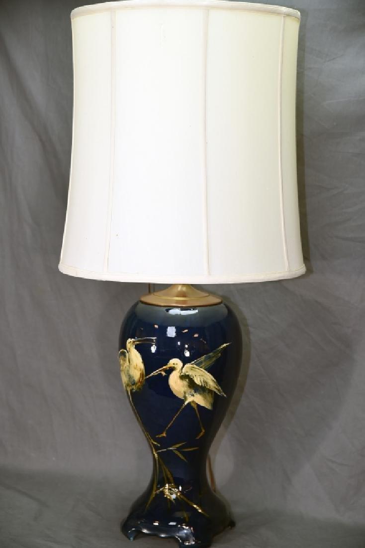 Weller Dickens Ware Egret Table Lamp - 2