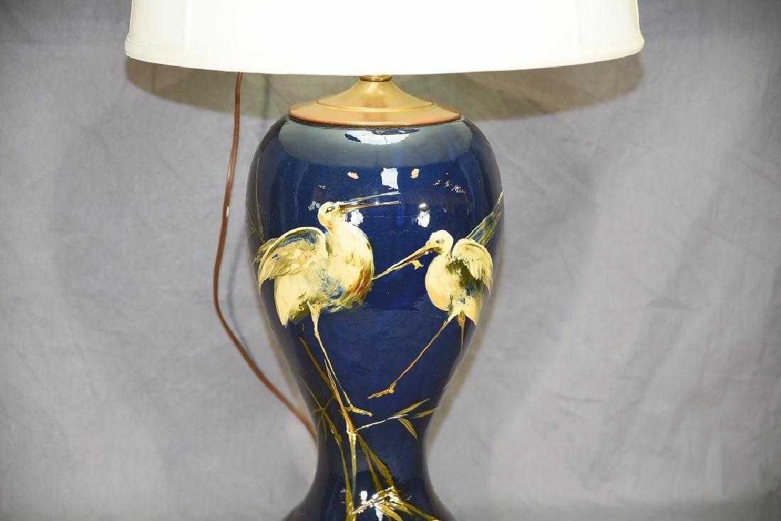 Weller Dickens Ware Egret Table Lamp - 3